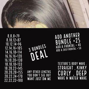 Wigs , bundles , closure n etc ...